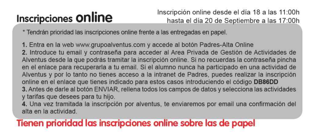alventus inscripción online